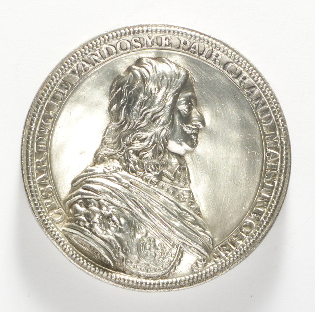 Detail of Medal commemorating Admiral César, Duc de Vendôme (1594-1665) by J. Darmand