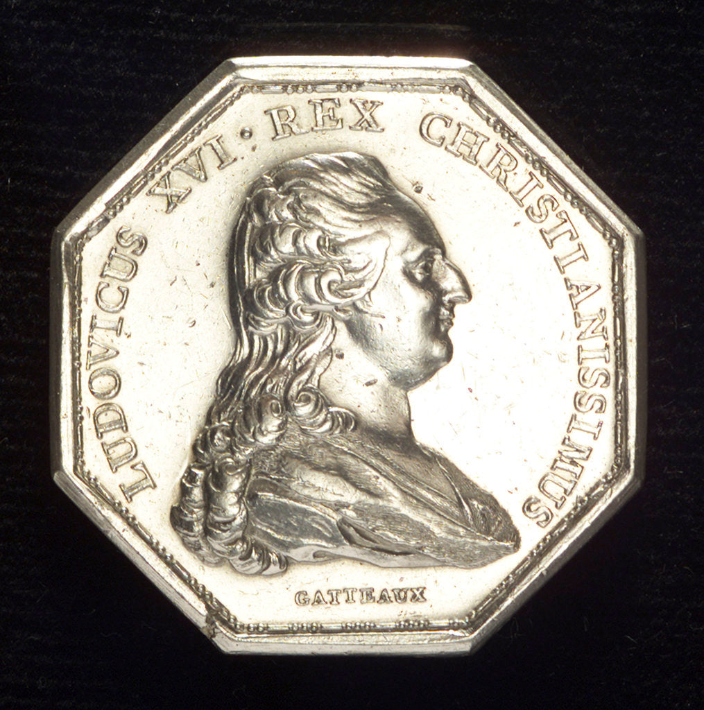 Detail of Medal commemorating the establishment of a lazaretto at Marseilles, 1775; obverse by N.M. Gatteaux