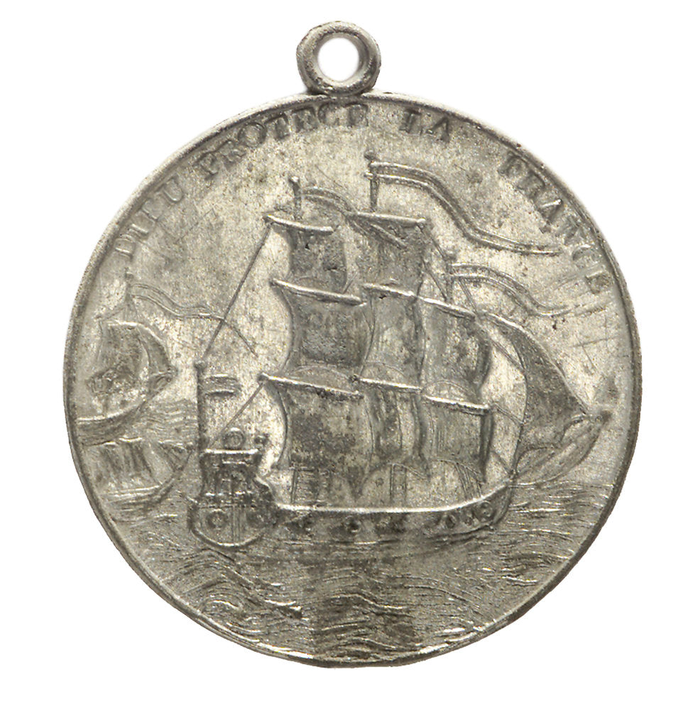 Detail of Medal commemorating Napoleon Bonaparte (1769-1821) sailing from Elba, 1815; reverse by unknown