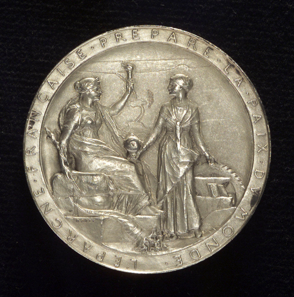 Detail of Medal commemorating the opening of the Suez Canal, 1869; obverse by O. Roty