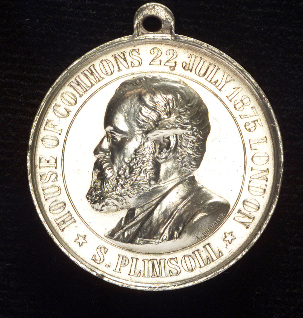 Detail of Medal commemorating Samuel Plimsoll (1824-1898) and the coffin-ships; obverse by A. Chevalier