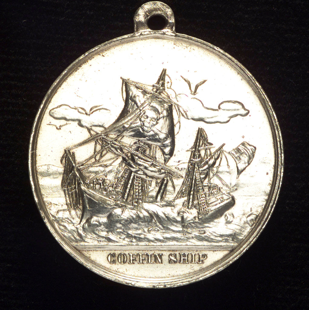 Detail of Medal commemorating Samuel Plimsoll (1824-1898) and the coffin-ships; reverse by A. Chevalier