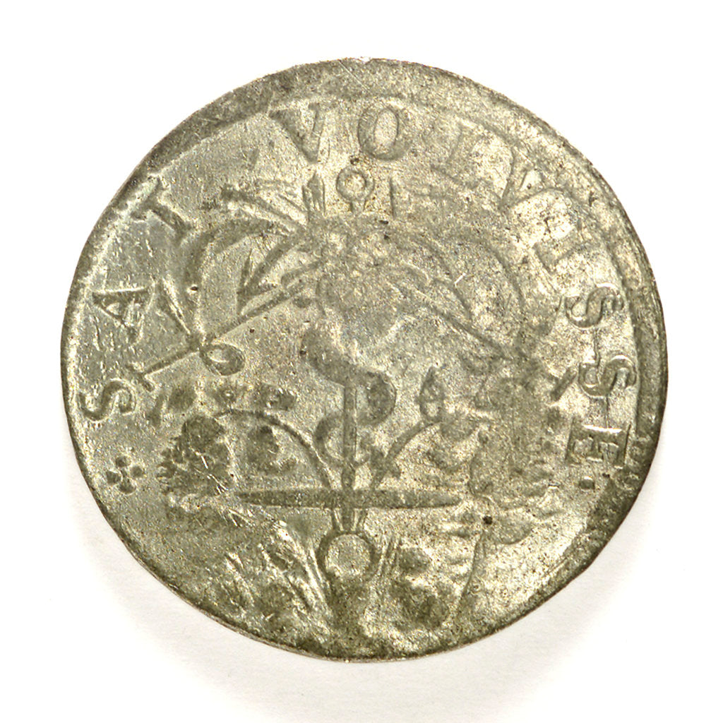 Counter commemorating Admiral Gaspard de Coligny (1516-1572); reverse by unknown