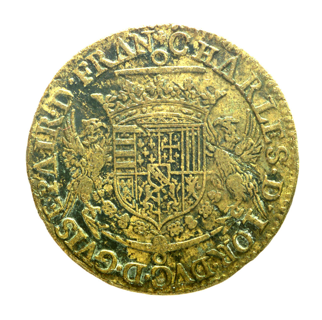 Detail of Counter commemorating Admiral Charles de Lorraine, 4th Duc de Guise (1571-1640); obverse by unknown