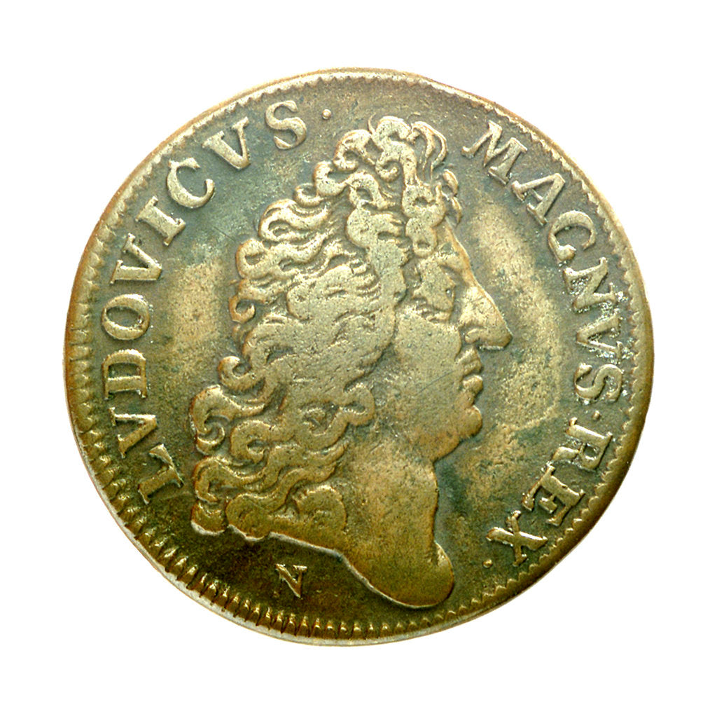 Counter commemorating the capture of Tobago, 1677; obverse by J. Nilis