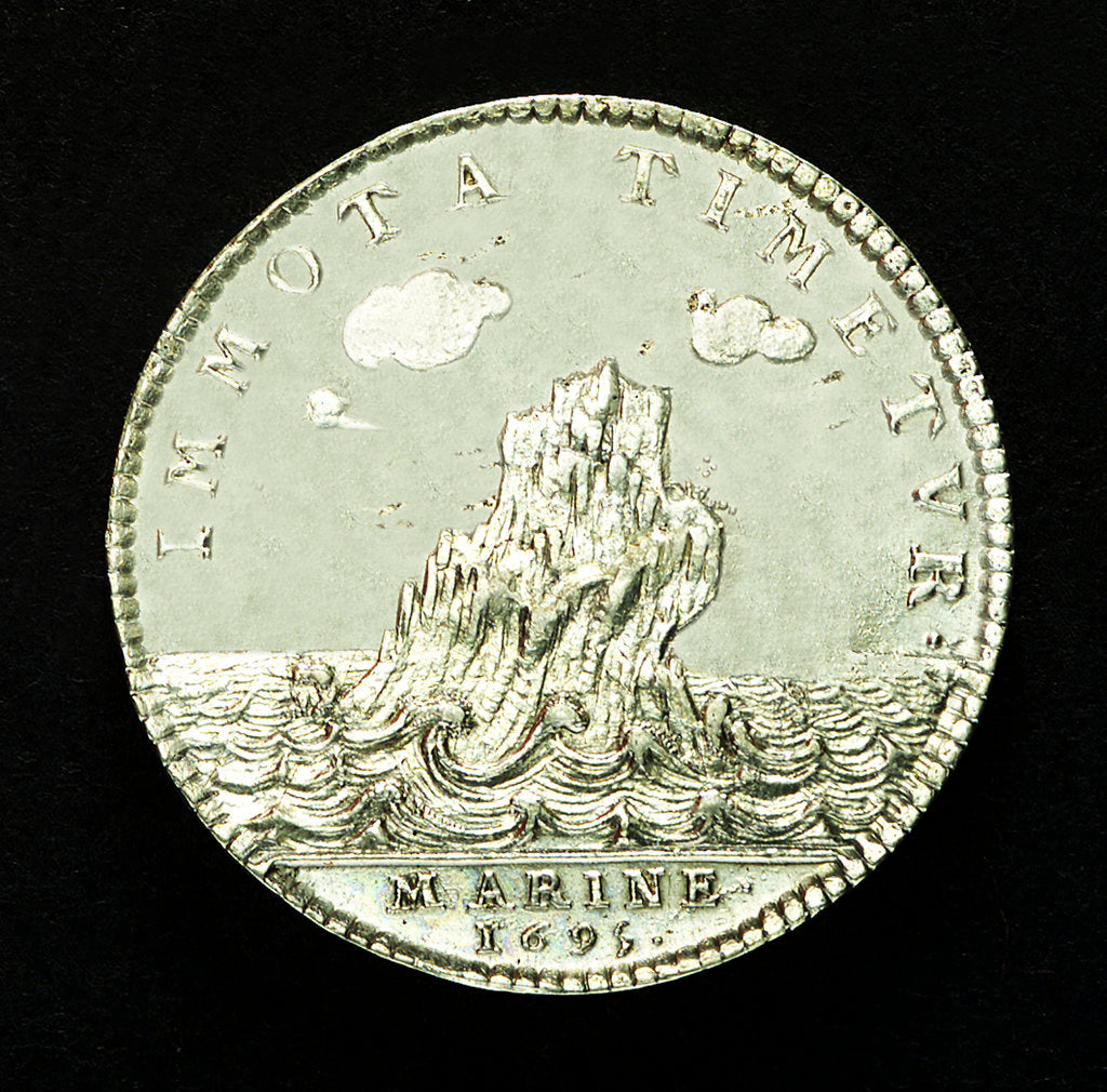 Counter commemorating the British attack on Brest, 1695; reverse by unknown
