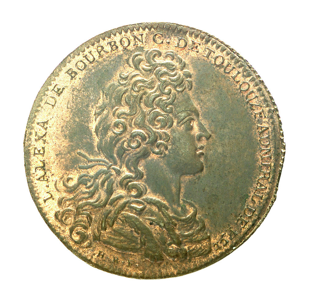 Detail of Counter commemorating the plunder of St Christopher and Nevis; obverse by H. Roussel