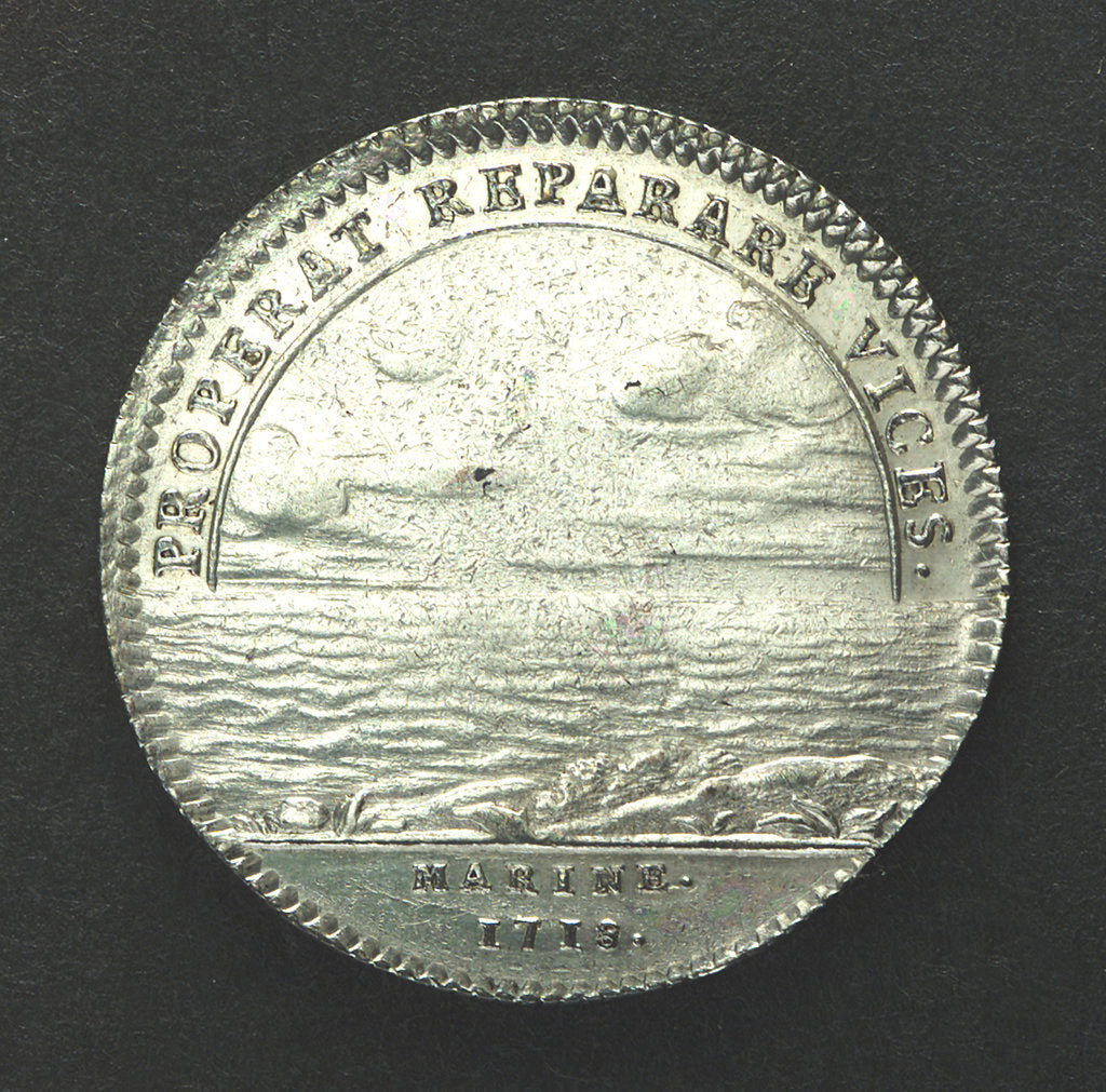 Detail of Counter commemorating service against Spain; reverse by unknown