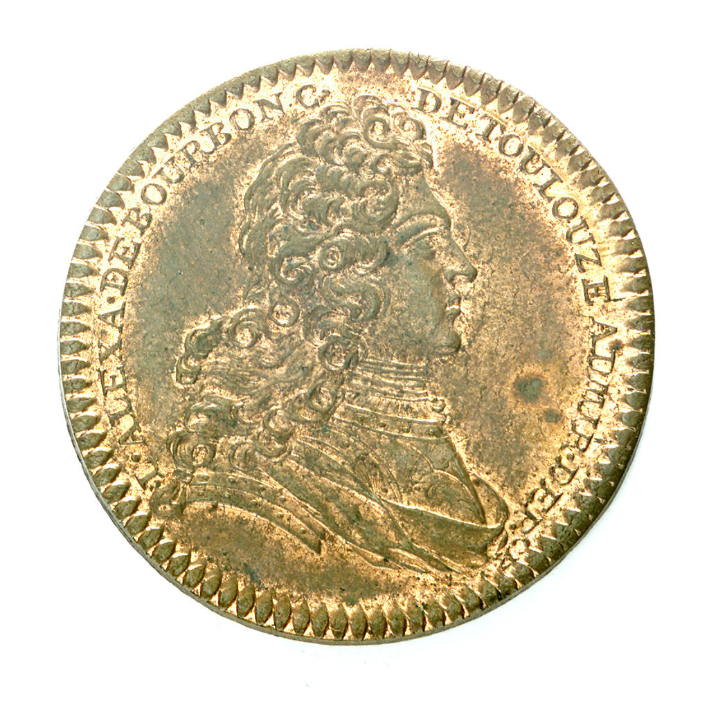 Detail of Counter commemorating Comte de Toulouse still Admiral of France; obverse by unknown