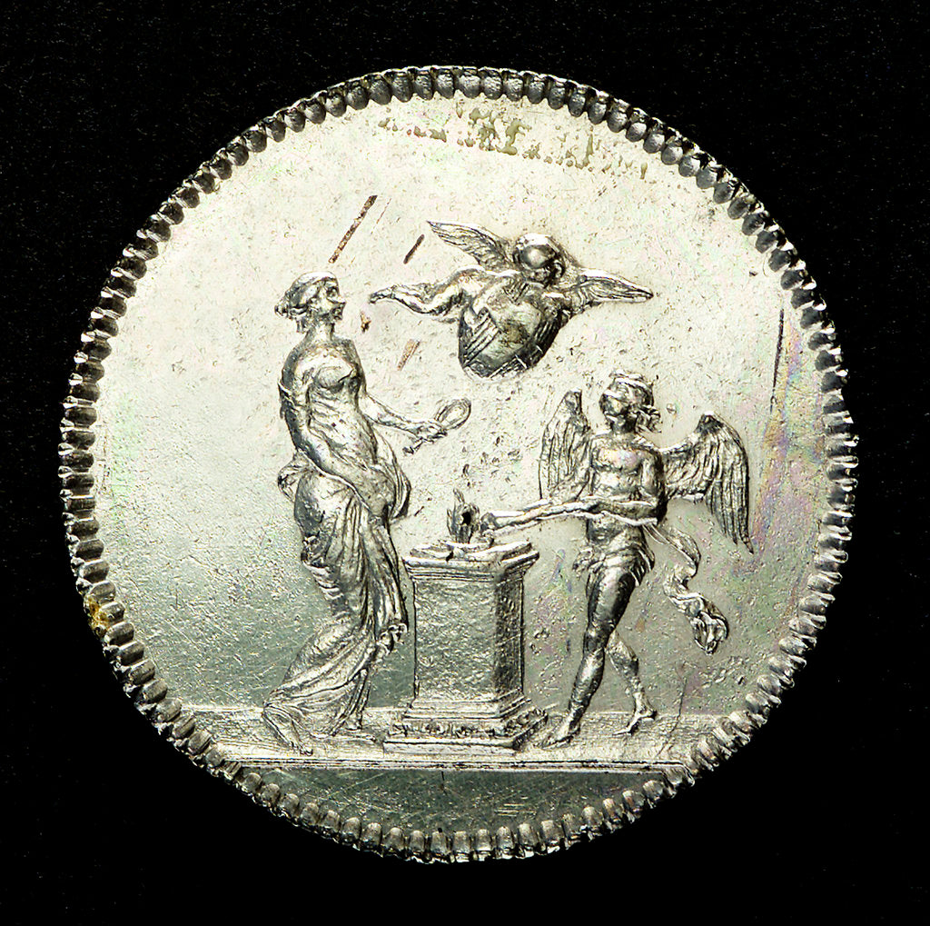 Detail of Counter commemorating the marriage of the Comte de Provence; obverse by unknown