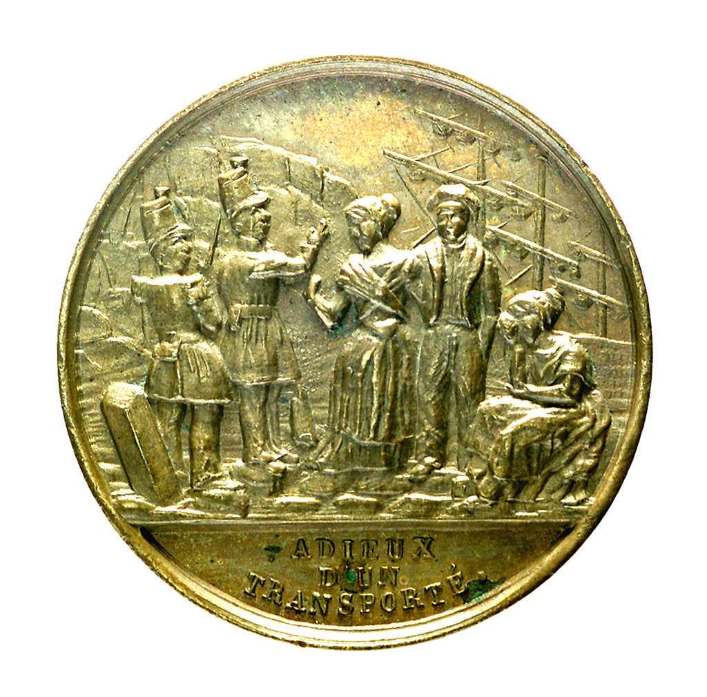 Detail of Counter commemorating the embarkation of the insurgents at Le Havre, 1848; obverse by unknown