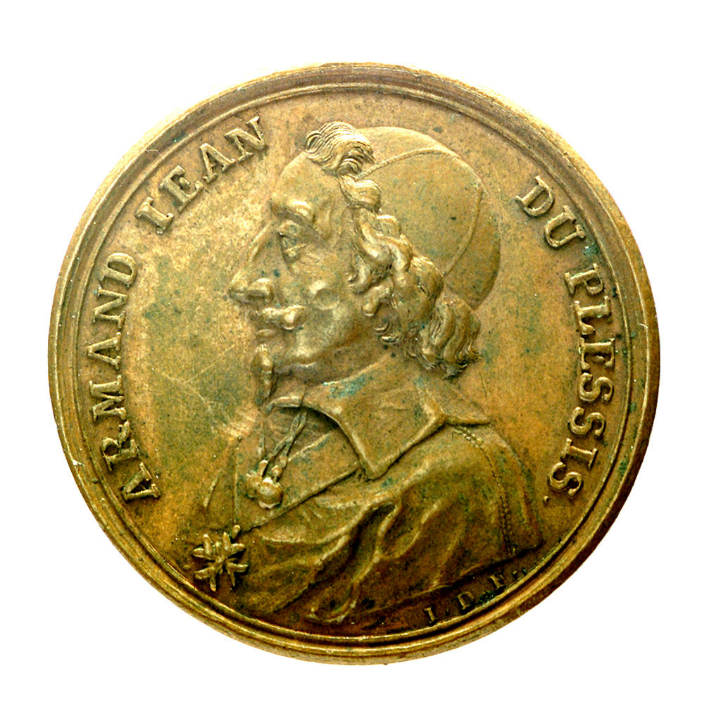 Detail of Counter commemorating Cardinal Richelieu; obverse by J. Dassier