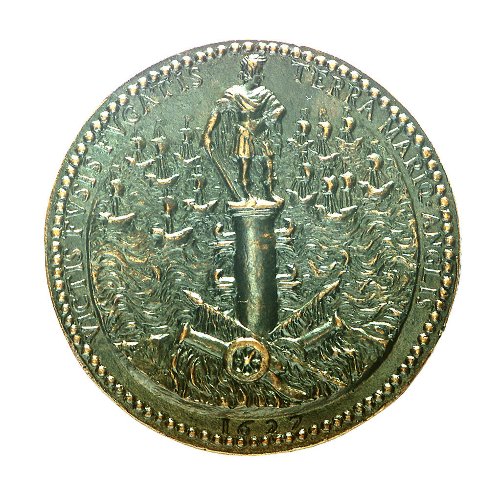Detail of Medal commemorating the British attack on the Ile de Ré, 1627 by unknown