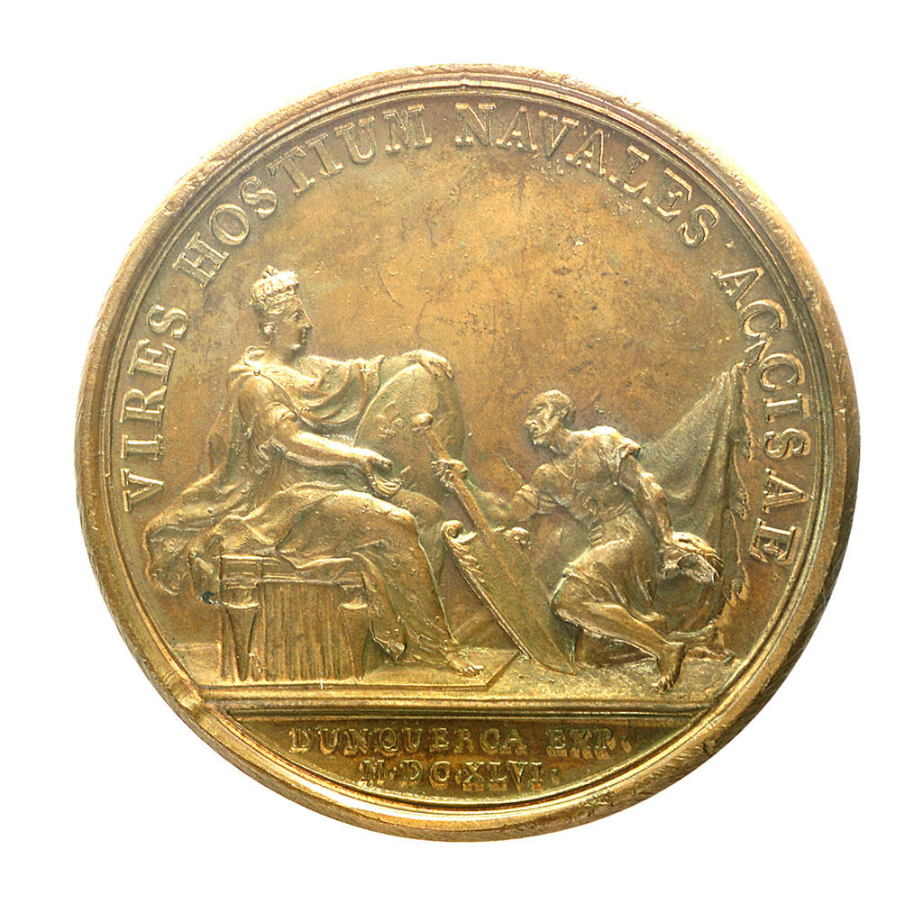 Detail of Medal commemorating the capture of Dunkirk, 1646; reverse by J. Mauger
