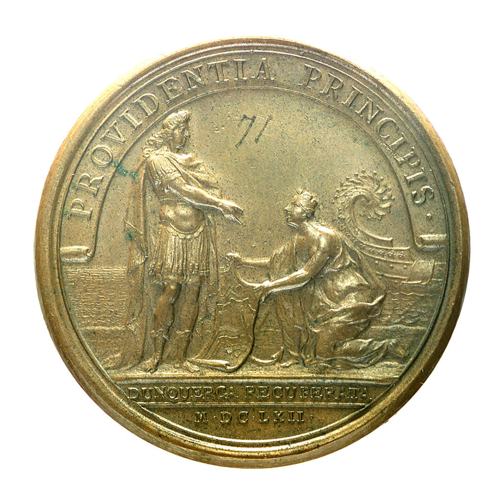 Detail of Medal commemorating the cession of Dunkirk; reverse by J. Mauger