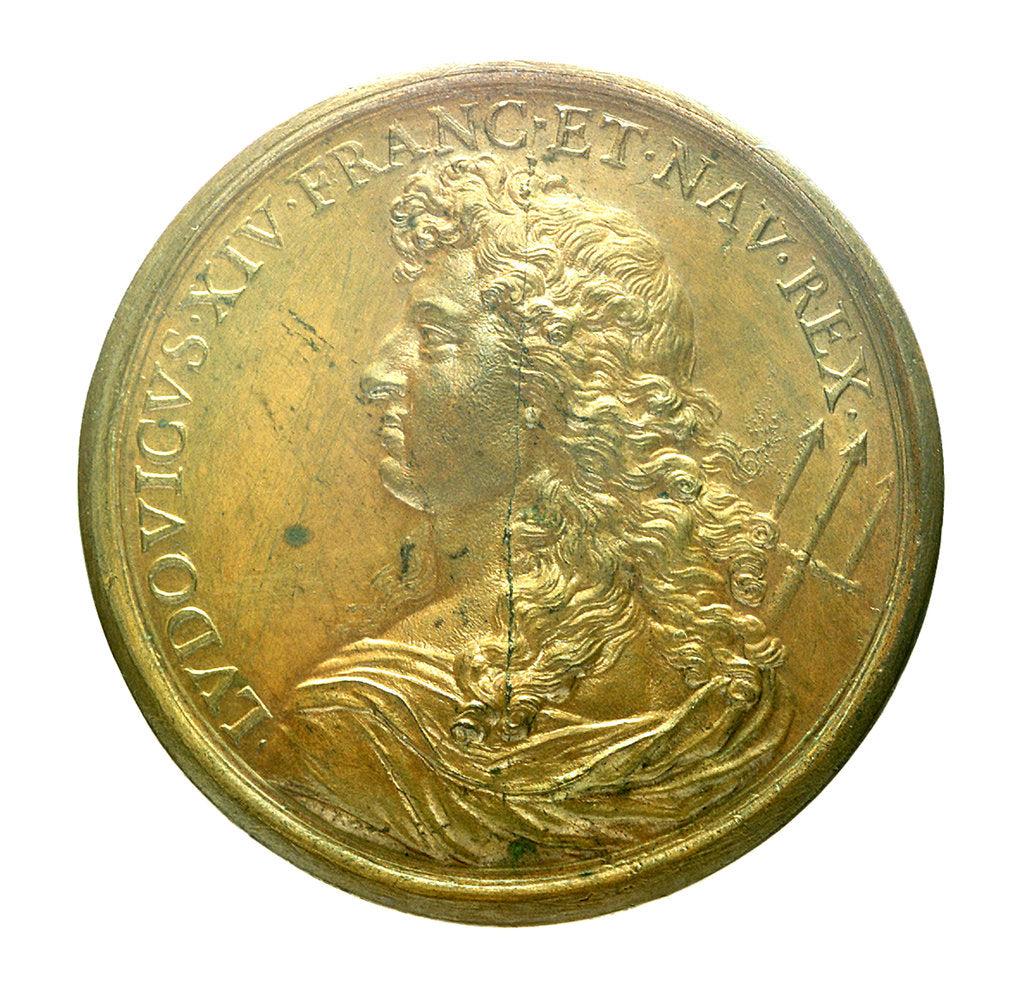 Detail of Medal commemorating the strengthened navy; obverse by J. Mauger