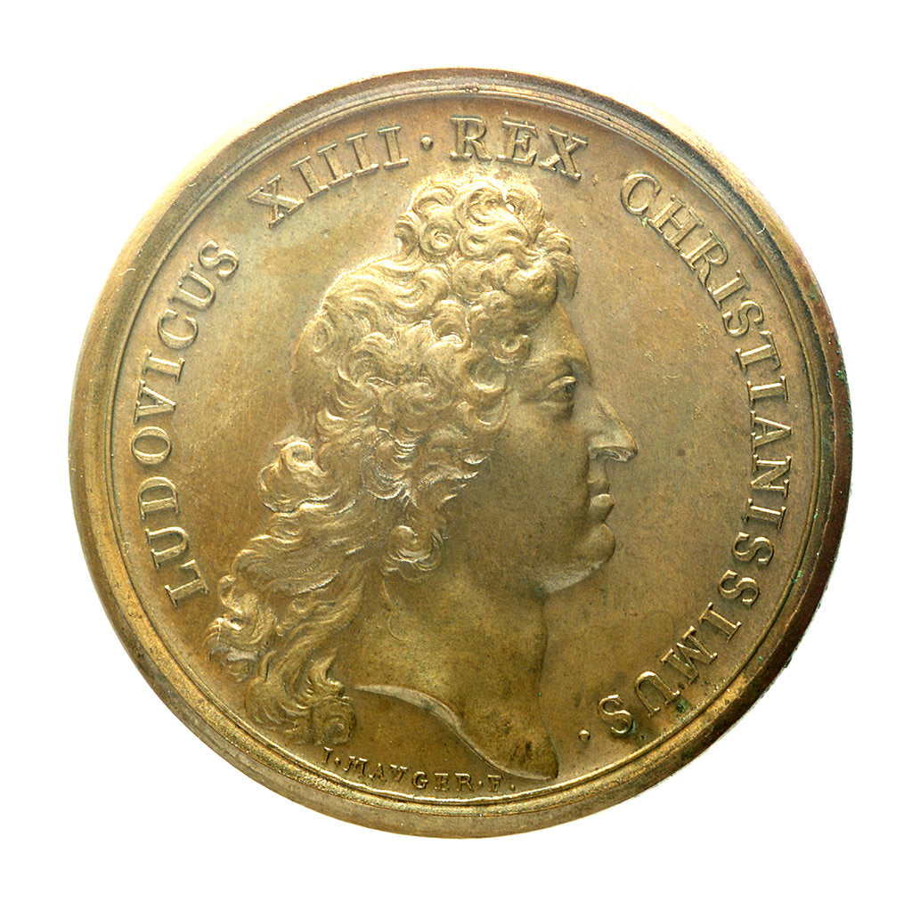 Detail of Medal commemorating the prepared naval forces; obverse by J. Mauger