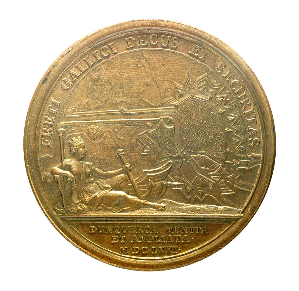 Detail of Medal commemorating Dunkirk fortified; reverse by J. Mauger