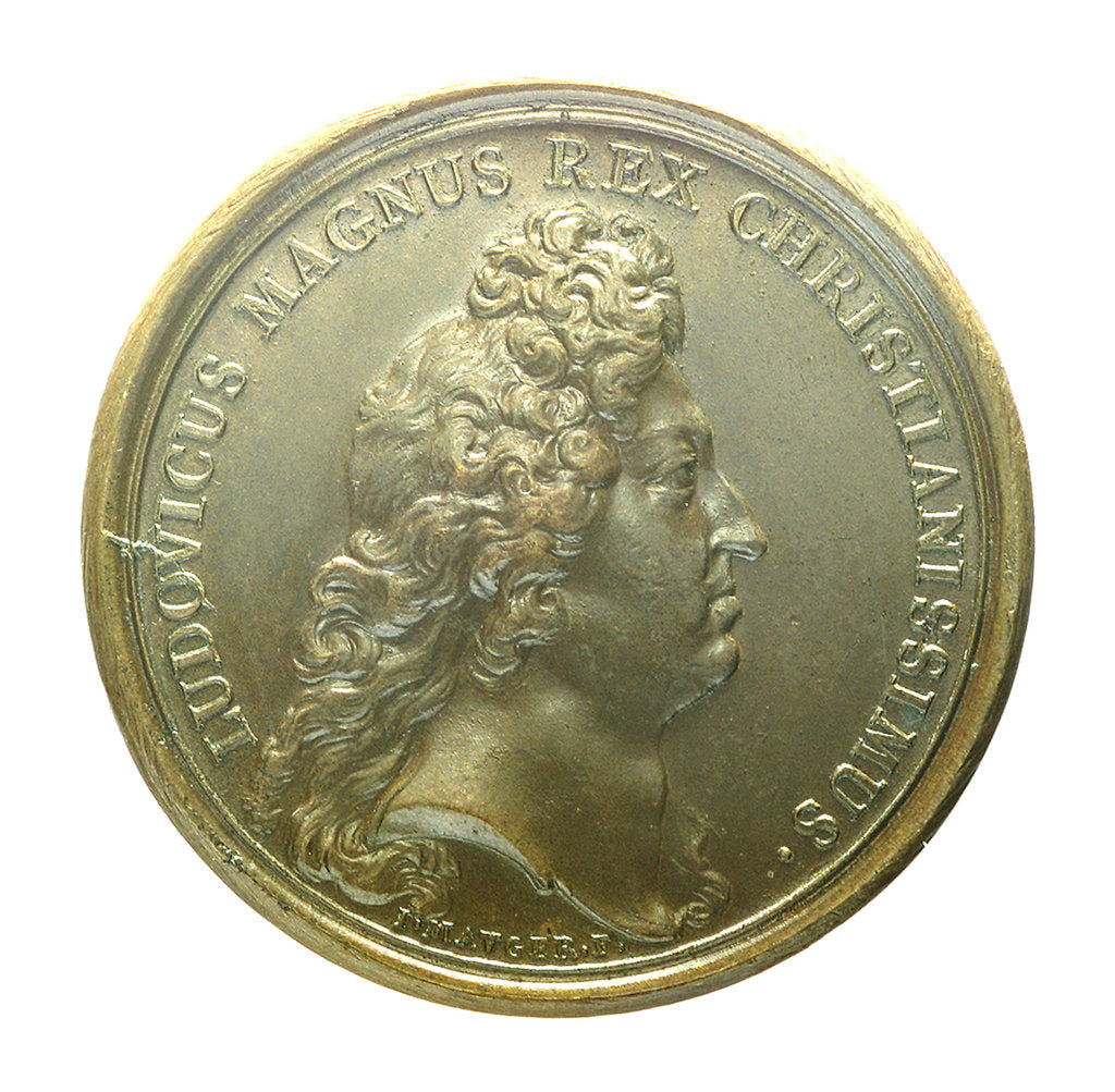 Detail of Medal commemorating the attack on Belle Isle, 1674; obverse by J. Mauger