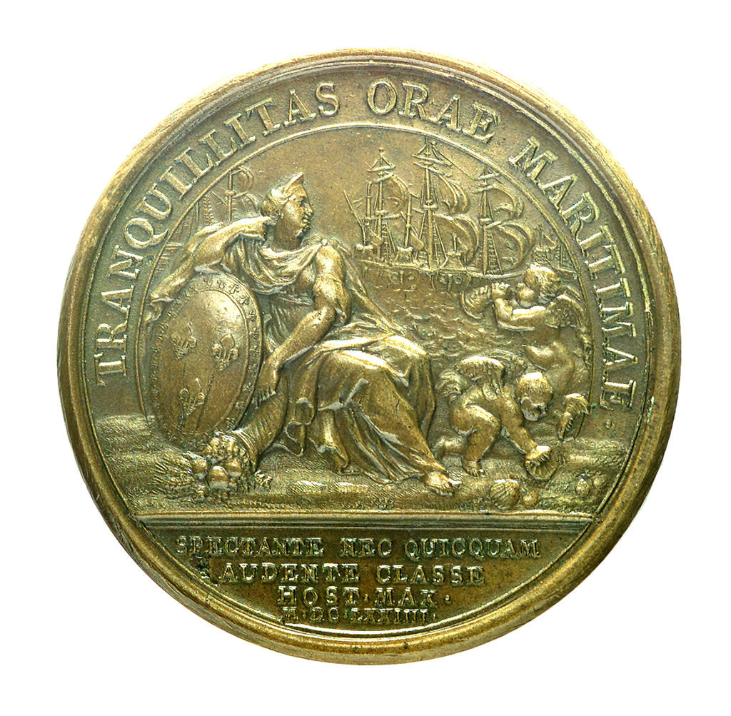 Detail of Medal commemorating the attack on Belle Isle, 1674; reverse by J. Mauger