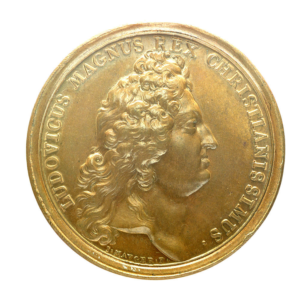 Detail of Medal commemorating the bombardment of Genoa, 1684; obverse by J. Mauger