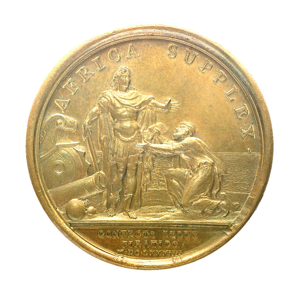 Detail of Medal commemorating the Peace with Algiers, 1684; reverse by J. Mauger