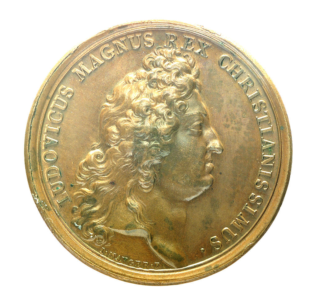 Detail of Medal commemorating the action off Beachy Head, 1690; obverse by J. Mauger
