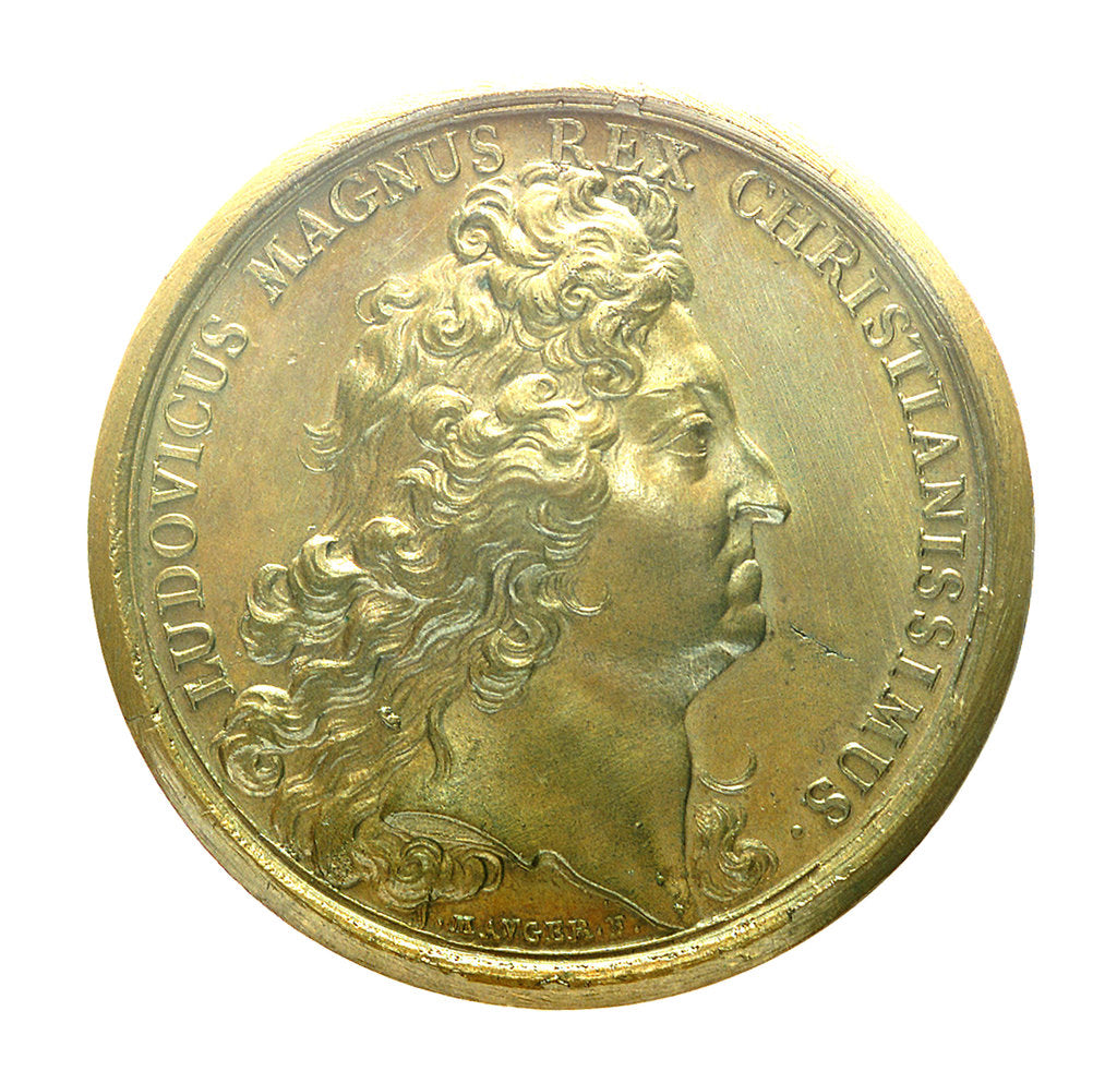 Detail of Medal commemorating the Expedition to Brest, 1694; obverse by J. Mauger