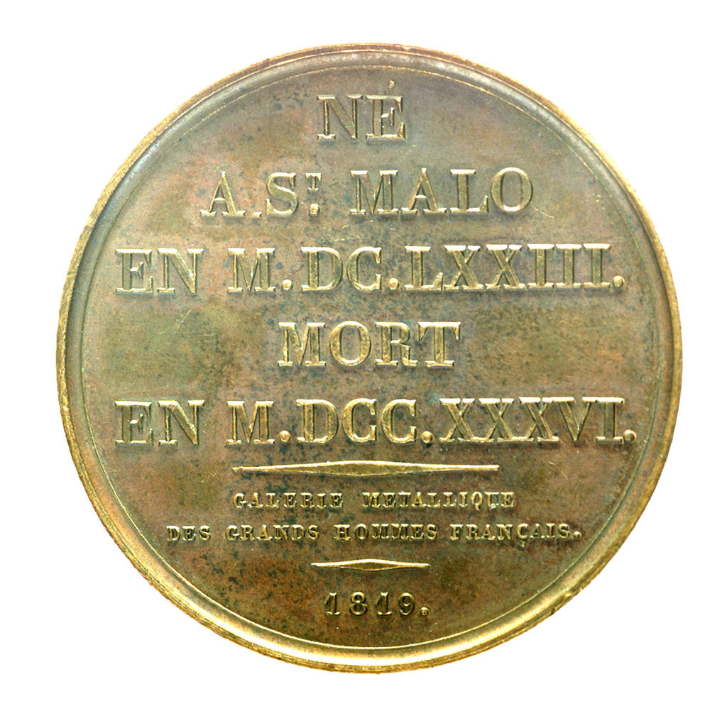 Detail of Medal commemorating Admiral René Duguay-Trouin (1673-1736) by Armand Auguste Caqu