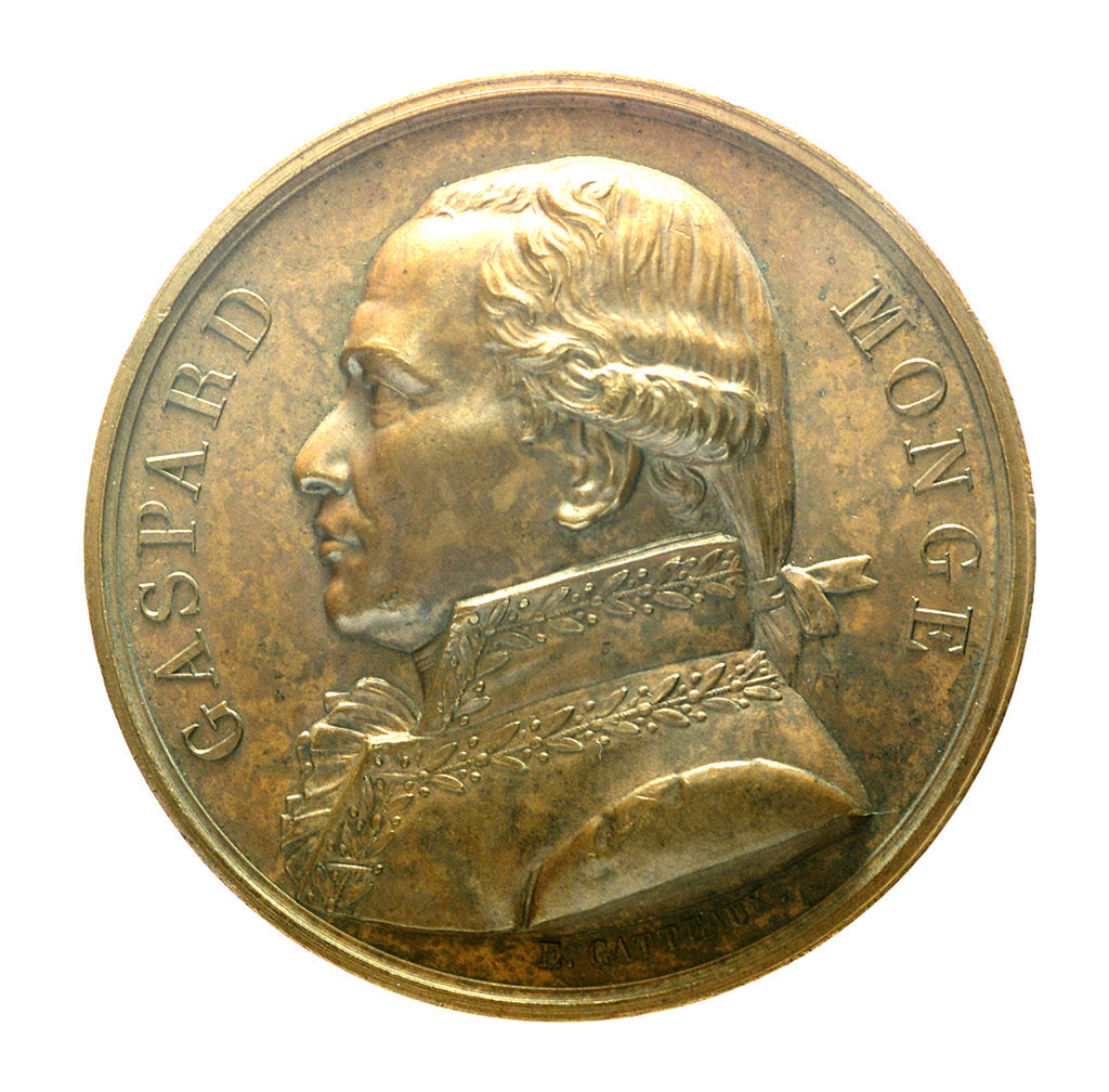 Detail of Medal commemorating Admiral Gaspard Monge (1746-1818); obverse by J.E. Gatteaux