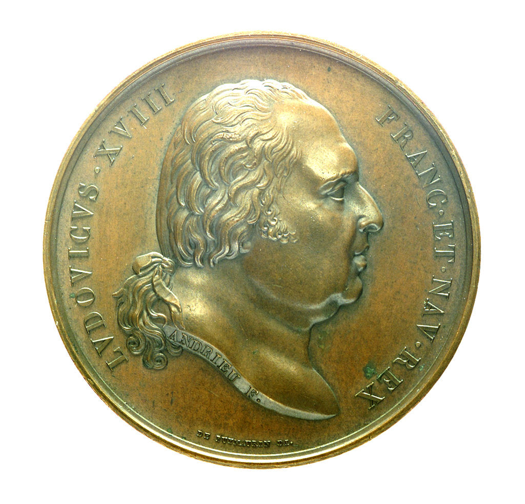Detail of Medal commemorating the voyage of corvette, 'La Coquille', 1822; obverse by J.P. de Puymaurin