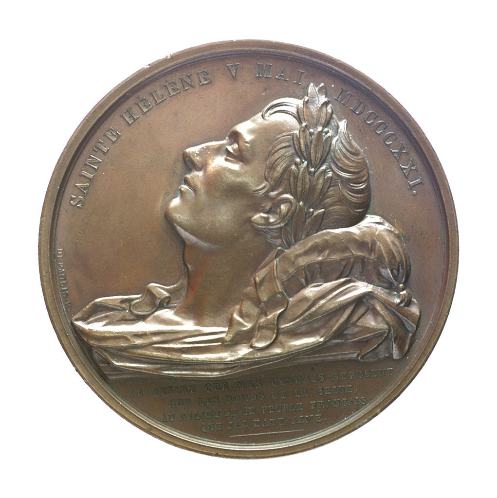 Detail of Medal commemorating the translation of the body of Napoleon to Rouen; obverse by Alexis Joseph Depaulis