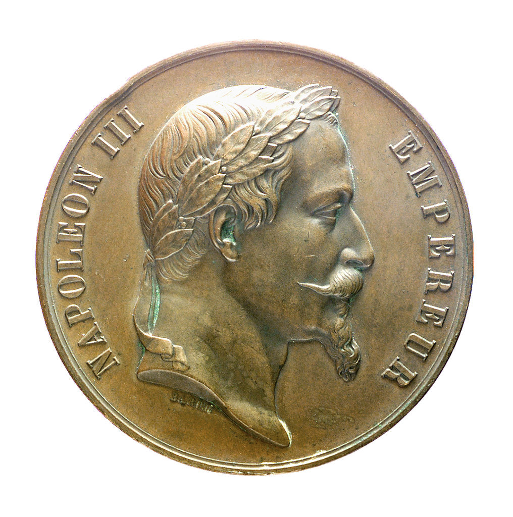 Detail of Medal commemorating a naval orphanage; obverse by J.J. Barre