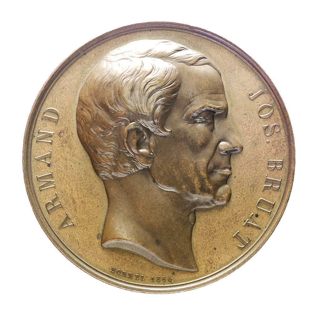 Detail of Medal commemorating Admiral Armand Bruat (1796-1855); obverse by Valentin Maurice Borrel