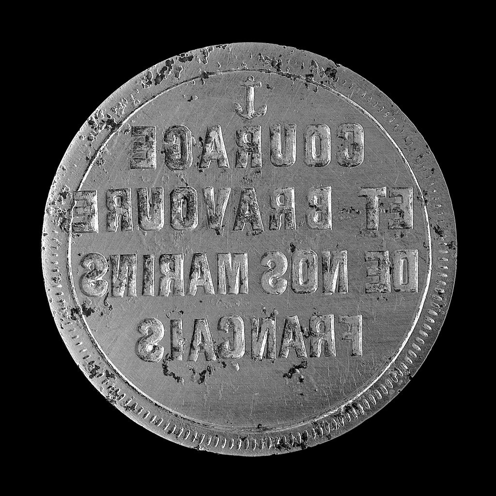 Detail of Medal die commemorating the siege of Paris, 1870-1871; obverse by unknown