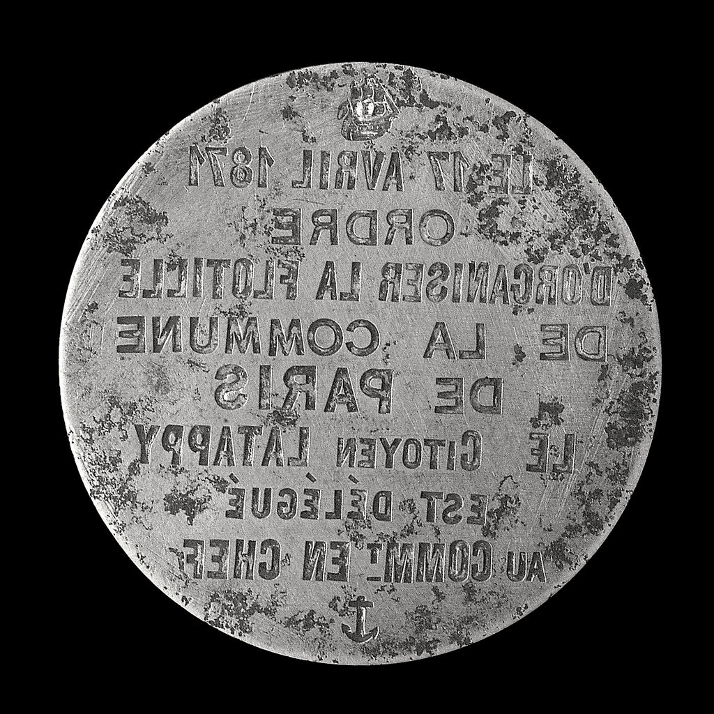 Detail of Medal die commemorating the siege of Paris, 1870-1871 and Citizen Latappy; obverse by unknown