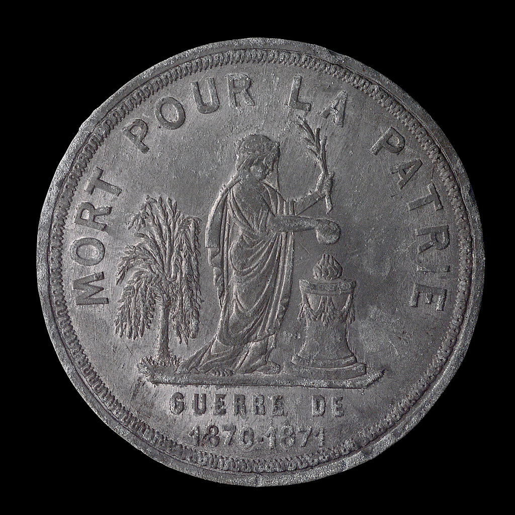 Detail of Medal commemorating the siege of Paris, 1870-1871 and death of Lieutenant Edgard Saisset; obverse by unknown