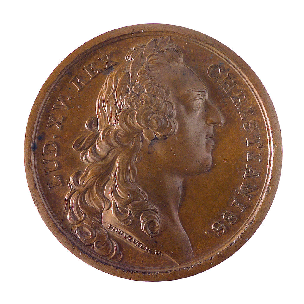 Detail of Medal commemorating the capture of Minorca, 1756; obverse by J. Duvivier