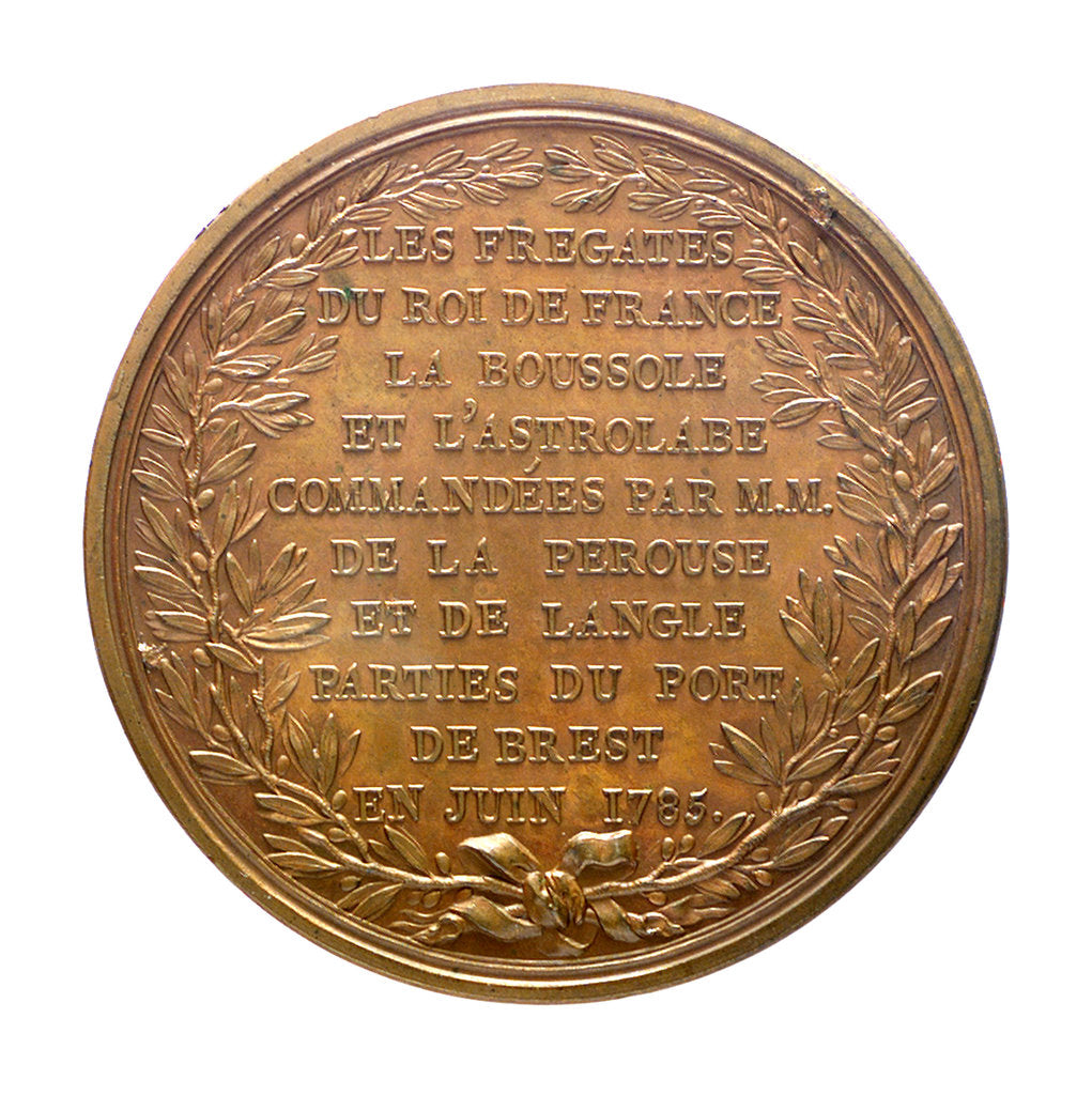 Detail of Medal commemorating the expedition of 'Boussole' and 'Astrolabe', frigates; reverse by B. Duvivier
