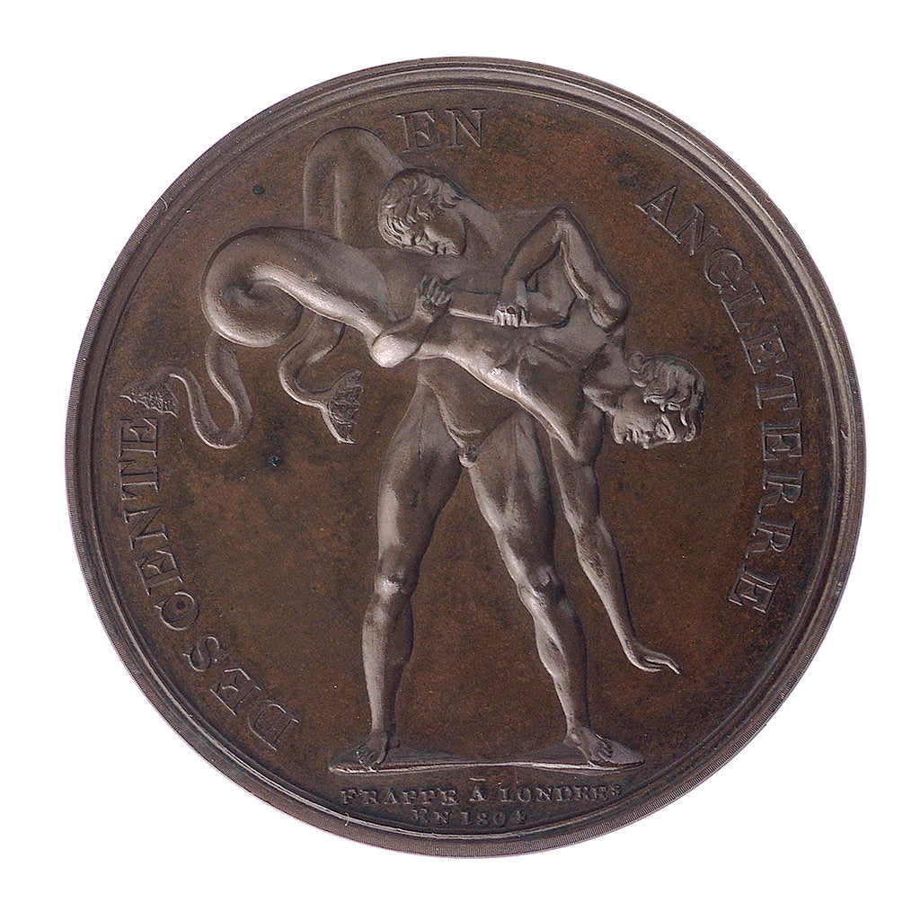 Detail of Medal commemorating the invasion of England, 1804; reverse by D.V. Denon