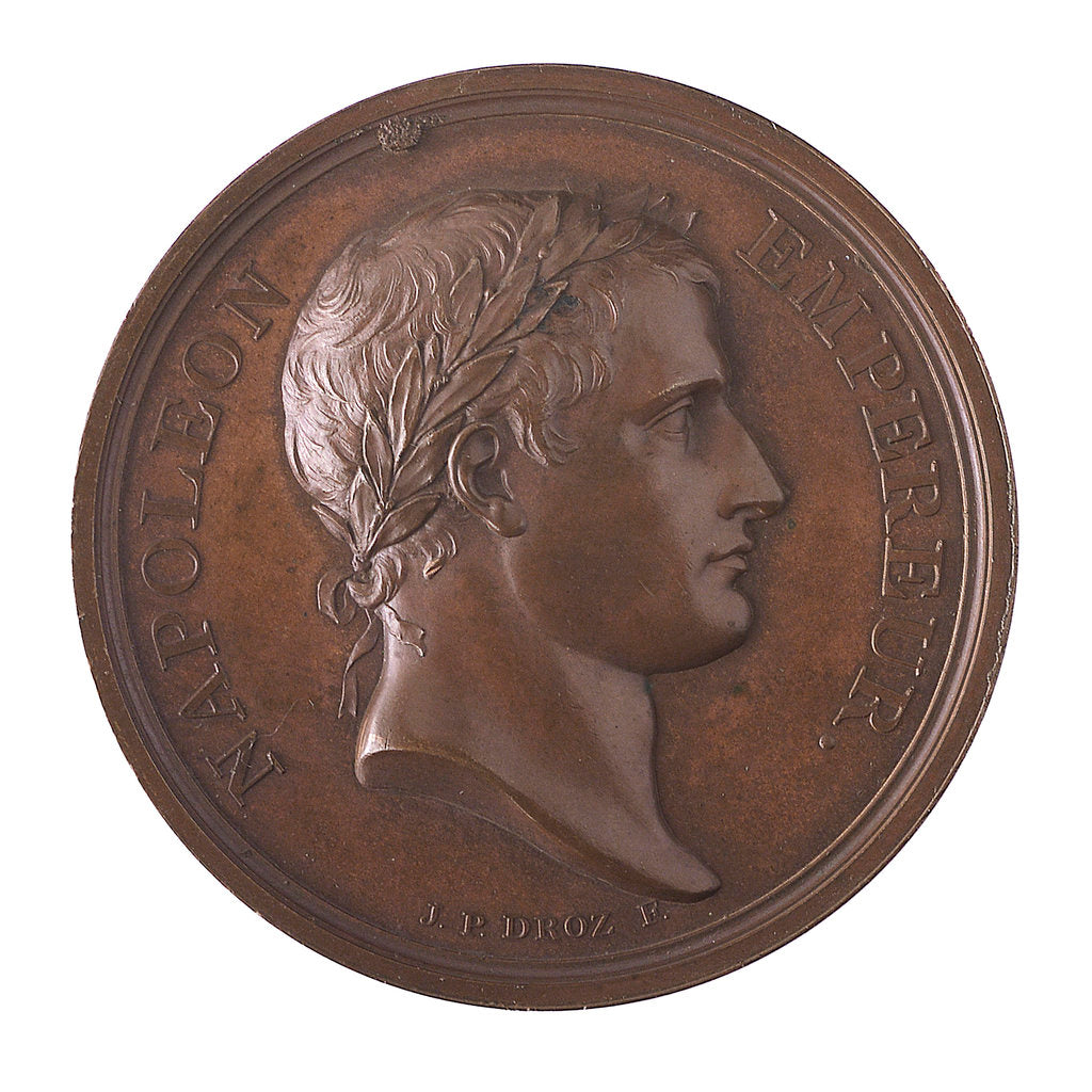 Detail of Medal commemorating the planned invasion of England, 1804; obverse by D.V. Denon