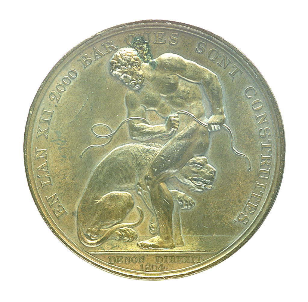 Medal commemorating the planned invasion of England, 1804; obverse by J. Jeuffroy
