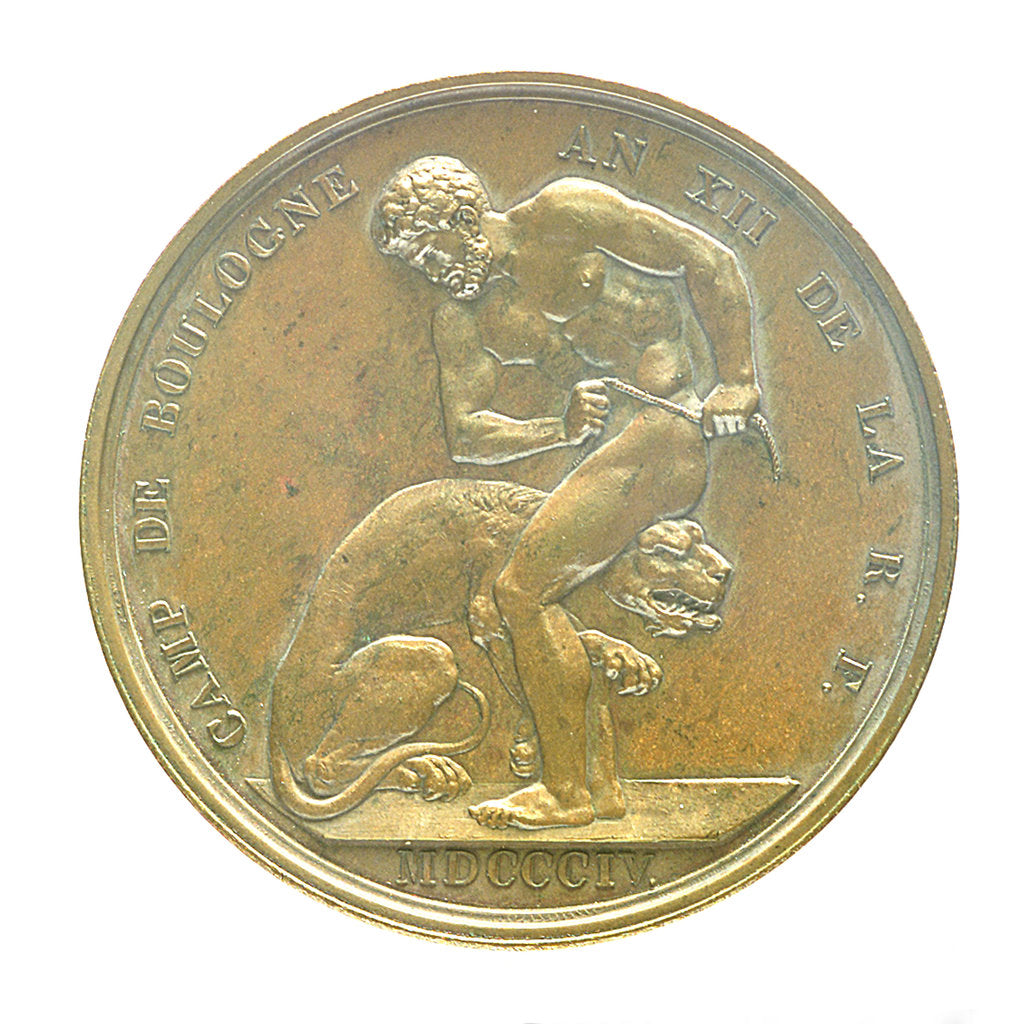 Detail of Medal commemorating the planned invasion of England, 1804; reverse by J.P. Droz
