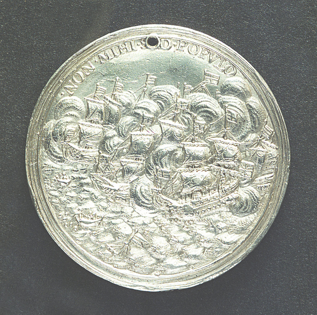 Detail of Medal commemorating disputes with Holland; reverse by G. Bower