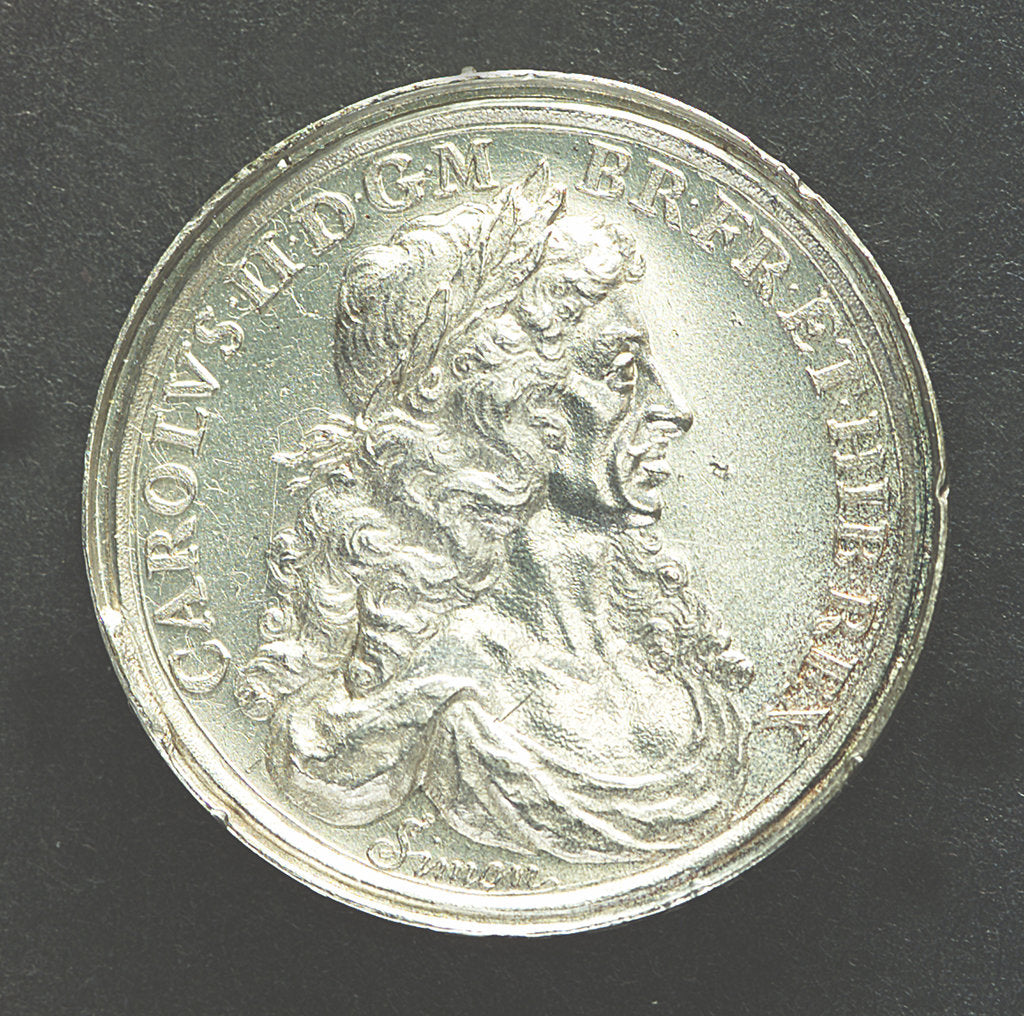 Detail of Medal commemorating the dominion of the sea; obverse by T. Simon