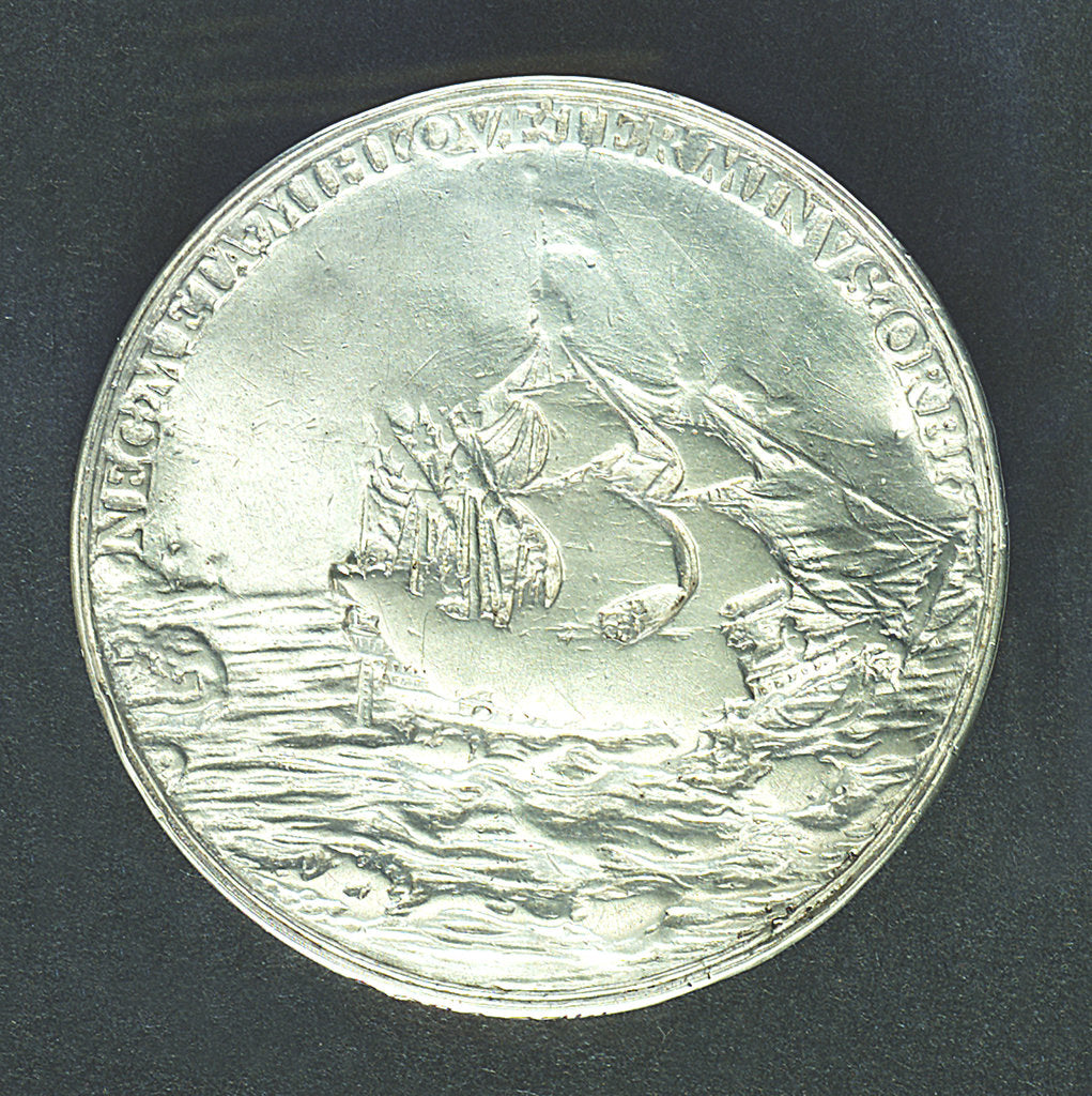 Detail of Medal commemorating the dominion of the sea; reverse by Nicholas Briot