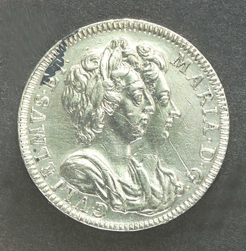 Detail of Medal commemorating the Battle of La Hogue, 1692; obverse by Jas Roettier