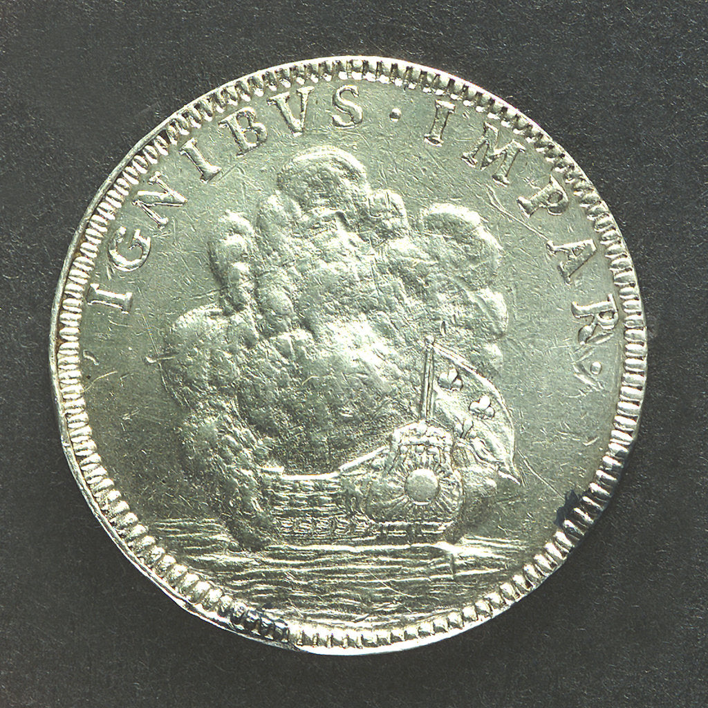 Detail of Medal commemorating the Battle of La Hogue, 1692; reverse by Jas Roettier