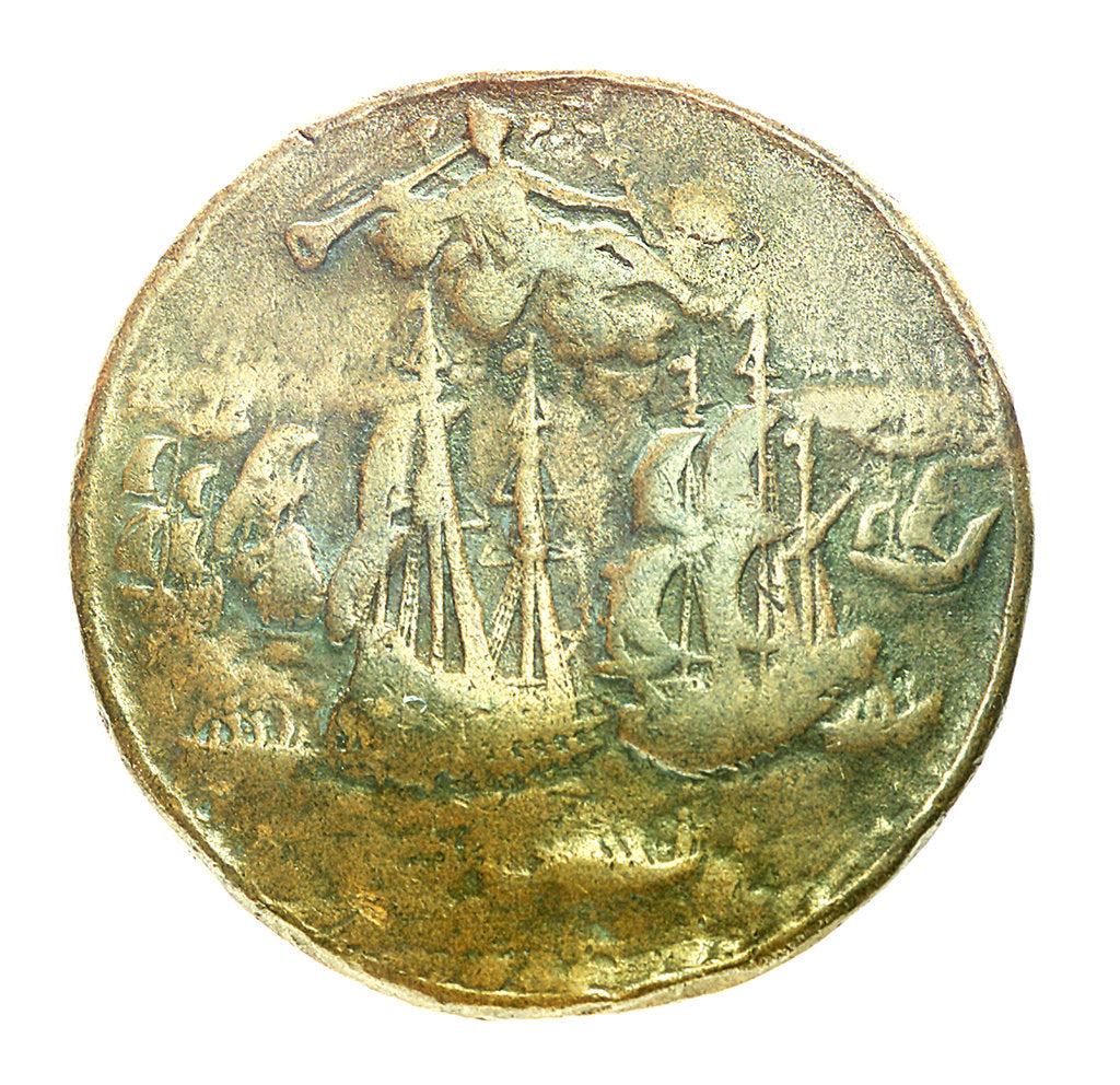 Detail of Medal commemorating Admiral Edward Vernon (1684-1757); reverse by unknown
