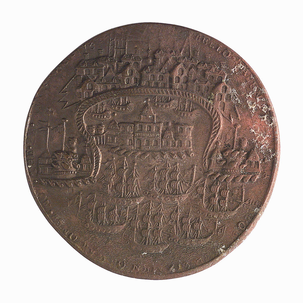 Detail of Medal commemorating the capture of Porto Bello, 1739; reverse by unknown